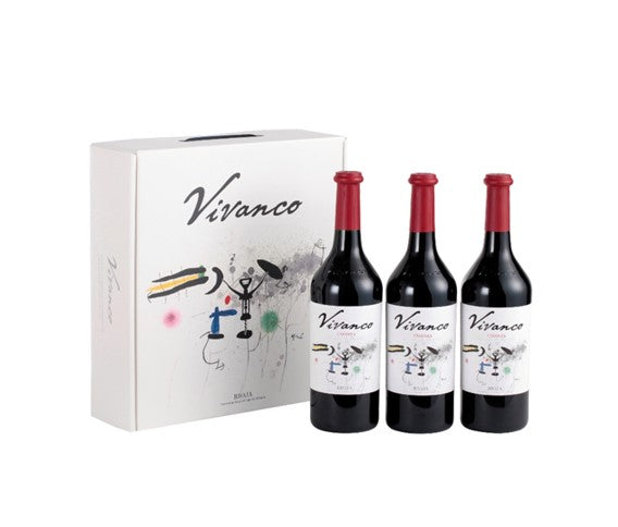 Estuche con 3 botellas de Vivanco Crianza