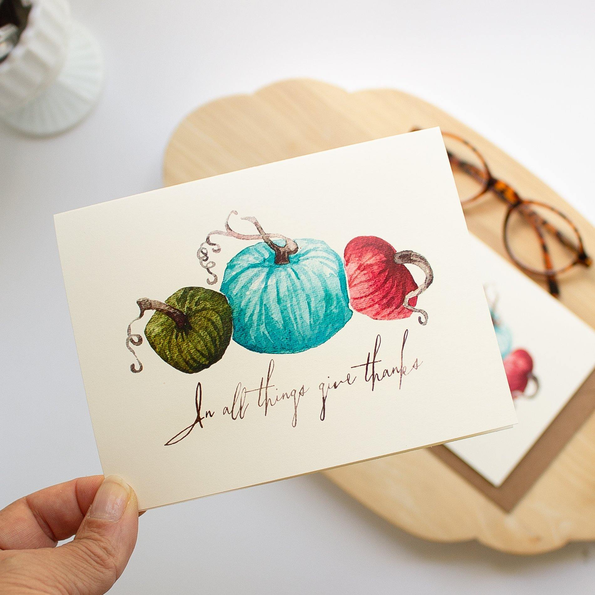 Autumn Pumpkins Note Card Set Autumn Note Cards Sunshine and Ravioli