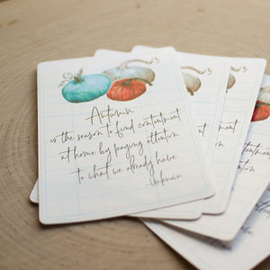 Autumn Quote Stickers - Set of 10 Sunshine and Ravioli