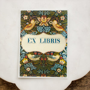 Birds and Berries Ex Libris Bookplates - set of 10 bookplates Sunshine and Ravioli blank
