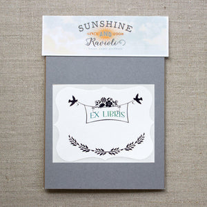 birds and flowers book plates - set of 10 bookplates Sunshine and Ravioli
