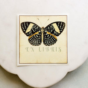 black butterfly book plates - set of 10 bookplates Sunshine and Ravioli