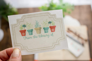Bookplate Stickers for Gardeners - set of 10 bookplates Sunshine and Ravioli