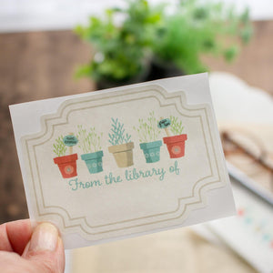 Bookplate Stickers for Gardeners - set of 10 bookplates Sunshine and Ravioli blank