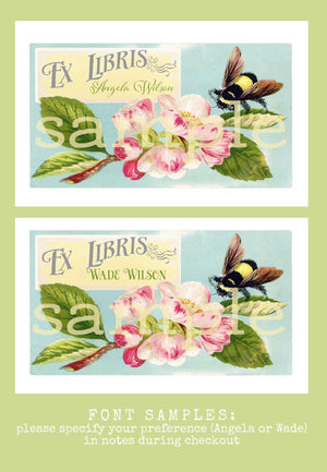 bumblebee bookplates - set of 10 bookplates Sunshine and Ravioli