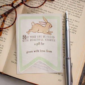 Bunny Baby Shower Bookplates - Gender Neutral Green - set of 10 bookplates Sunshine and Ravioli