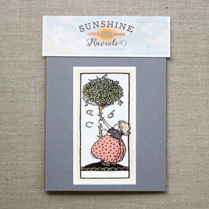 childrens' bookplate stickers - set of 10 bookplates Sunshine and Ravioli