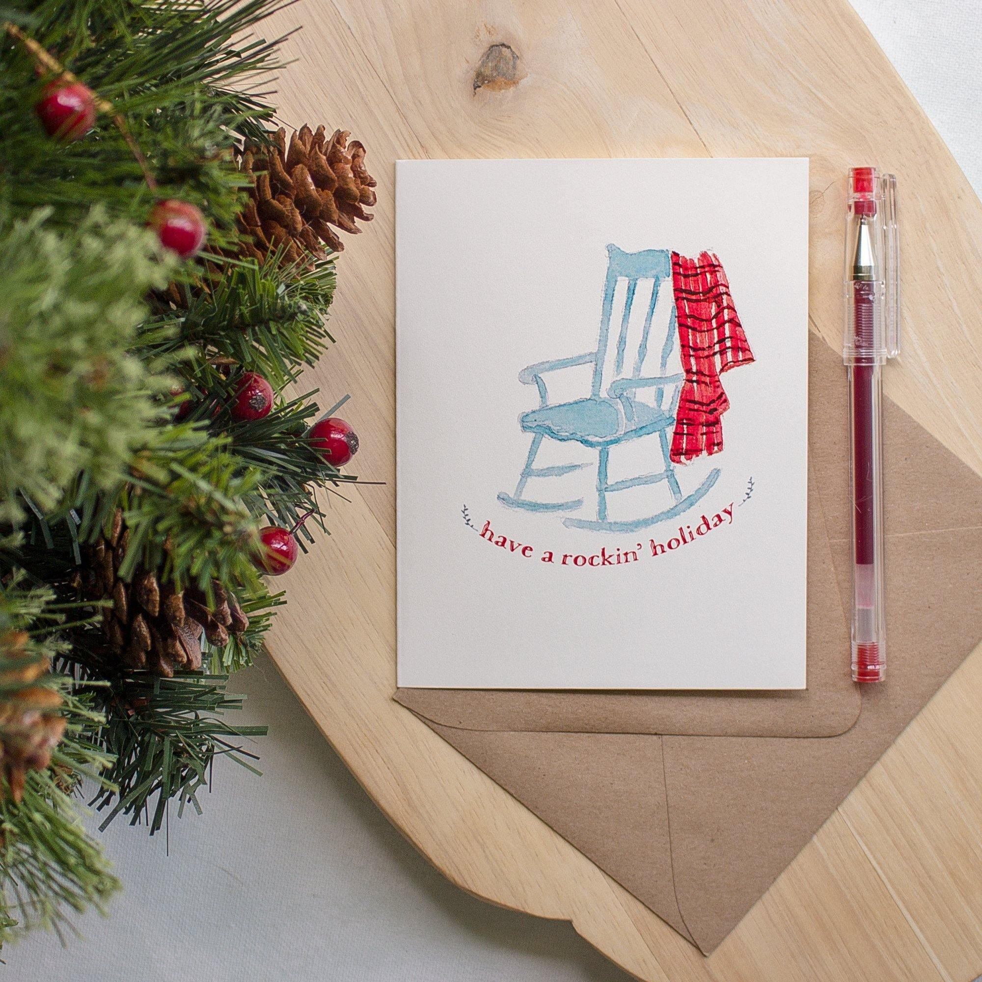 Christmas Greeting Card - Have a Rockin' Holiday Christmas cards Sunshine and Ravioli