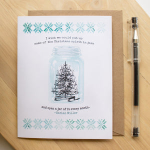 Christmas Greeting Card - Mason Jar Christmas cards Sunshine and Ravioli