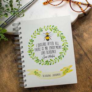 Jane Austen Bumblebee Reading Journal reading journals Sunshine and Ravioli not personalized