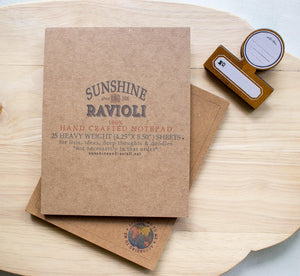 Kraft Notepad - The World According to Me notepads Sunshine and Ravioli