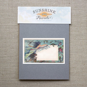 mermaid bookplates - set of 10 bookplates Sunshine and Ravioli