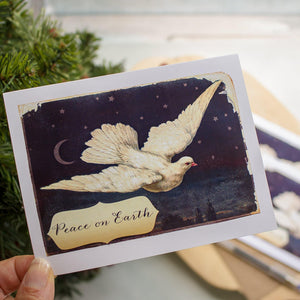 Peace on Earth Dove Holiday Greeting Card Christmas cards Sunshine and Ravioli