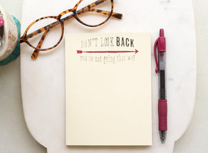 Personalized Notepad - Don't Look Back notepads Sunshine and Ravioli