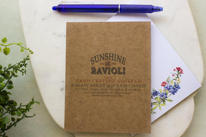 Texas Wildflowers Notepad - Watercolor notepads Sunshine and Ravioli