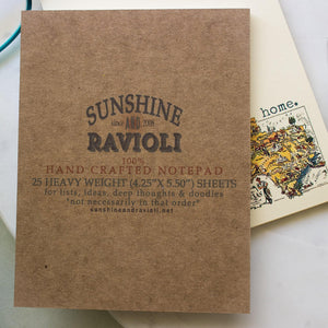 Vintage Texas Map Notepad notepads Sunshine and Ravioli