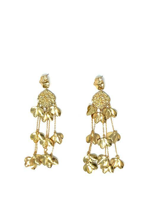 Shop Madda Earrings Maxi Gold Flowers