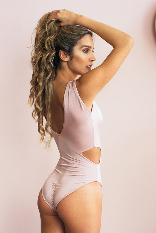 Maria One Pieces Swimsuit Pale Pink
