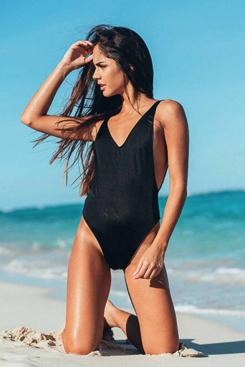 Ava One Piece Swimsuit Black