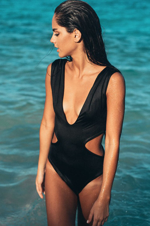 Maria One Piece Swimsuit Black