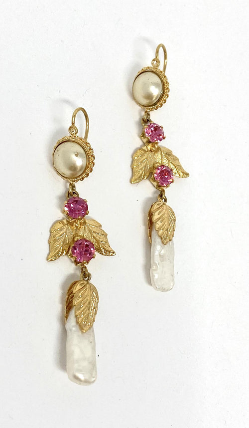 Antigua Earrings Pink Pearl