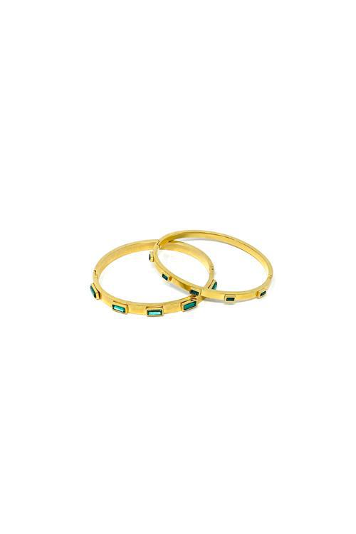 Shop Madda Bangle Emerald Duo