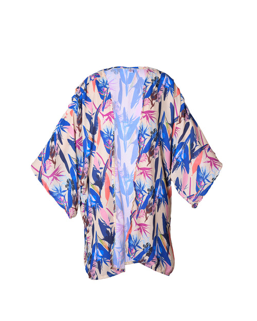 Antigua Kimono Short Flowers in Purple