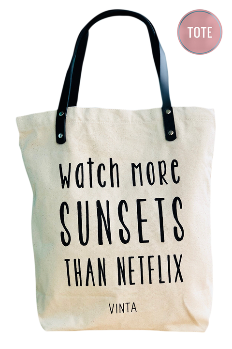 Vinta Watch More Sunsets Tote