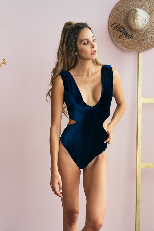 Maria One Piece Swimsuit Navy Velvet