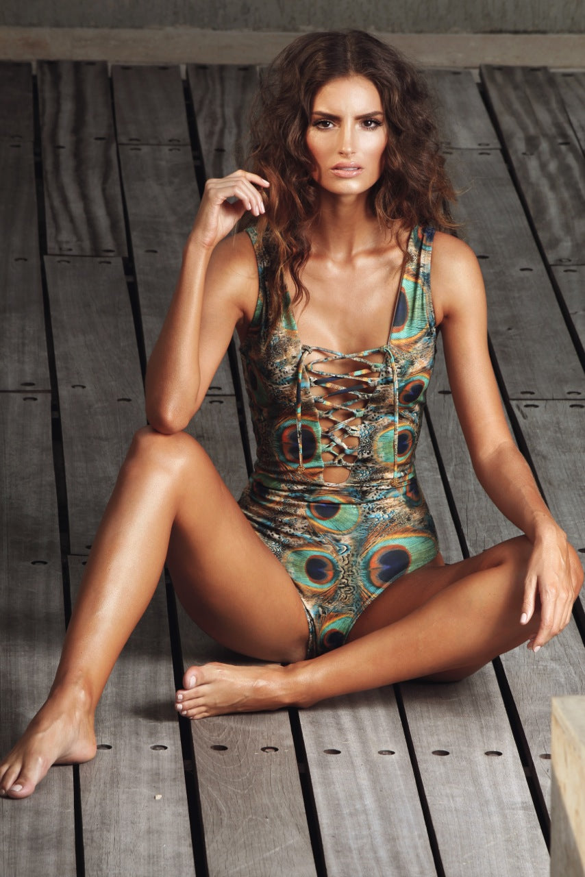 Amal One Piece Swimsuit Peacock