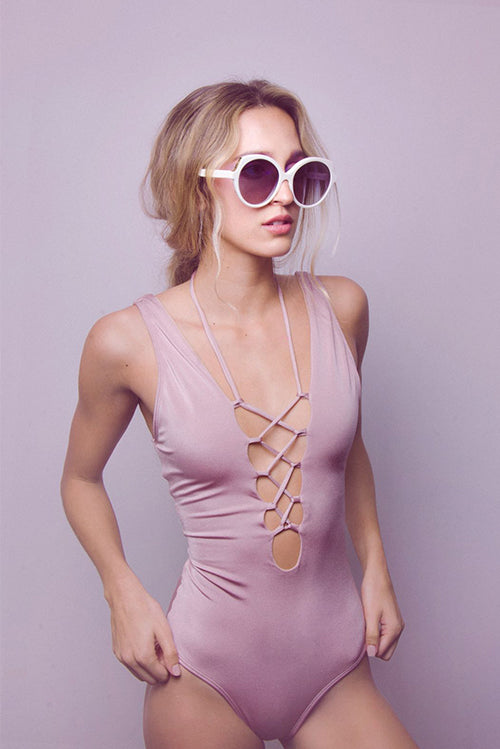 Amal One Piece Swimsuit Pale Pink