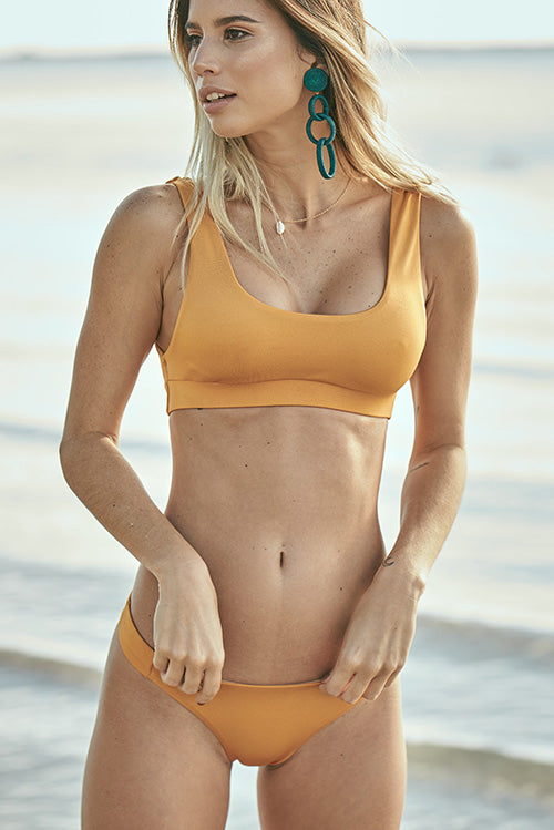 Aria Bikini Top Burned Yellow
