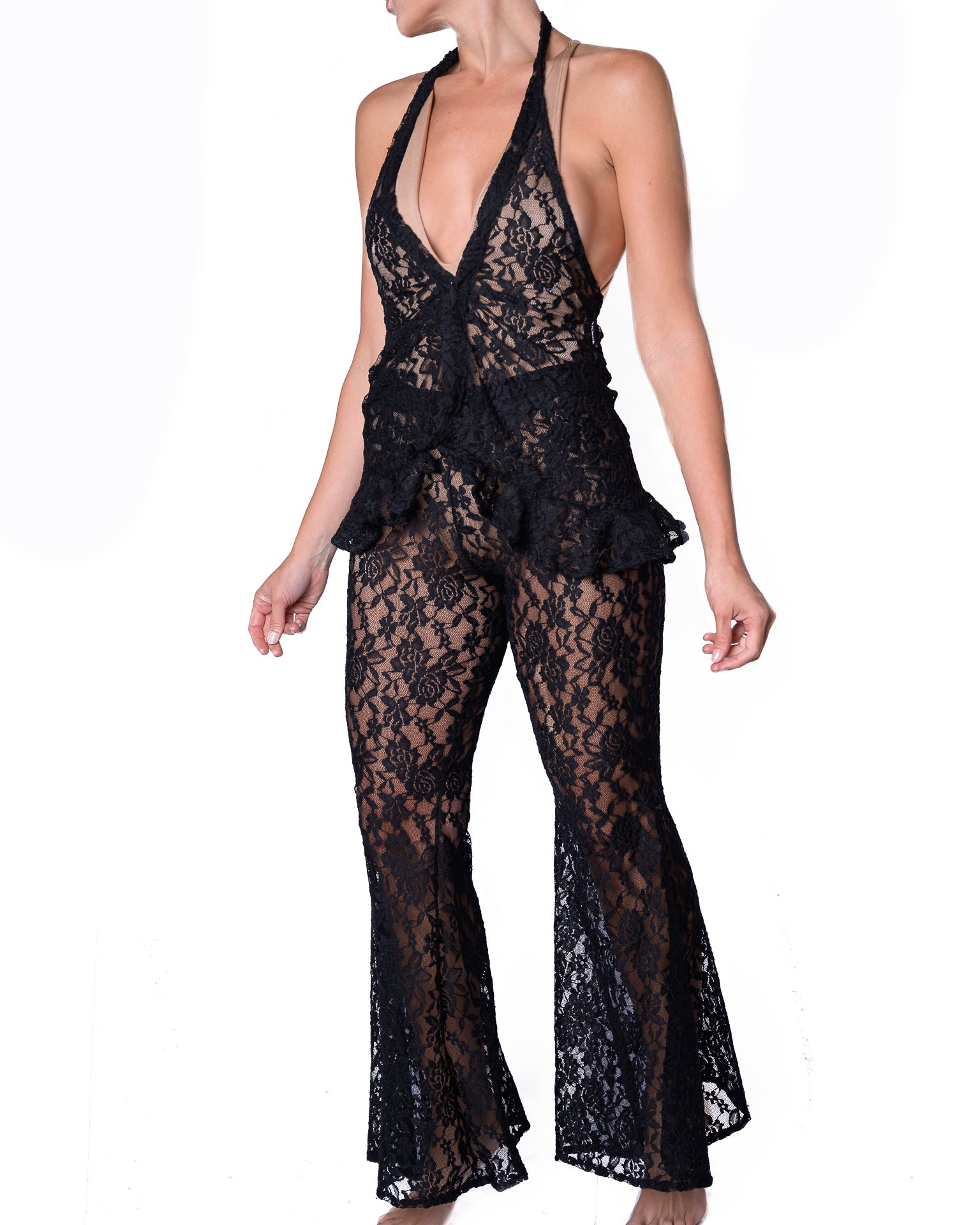 Antigua Isabella Top Black Lace
