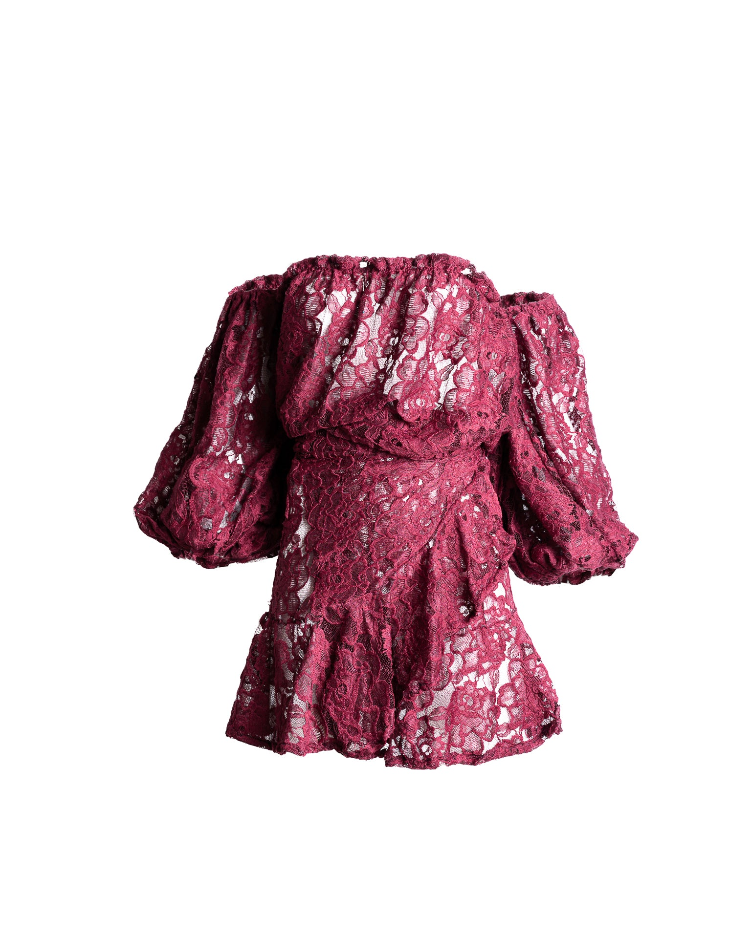 Antigua Nadia Off Top Burgundy Lace
