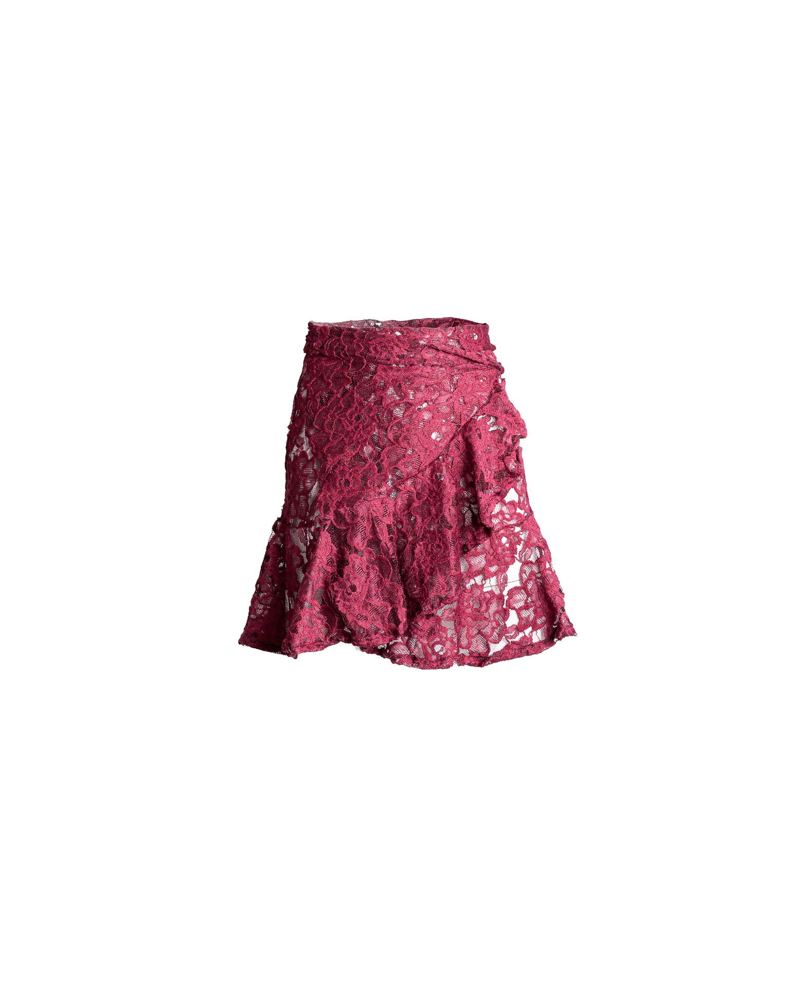 Antigua Skirt Mini Lola Burgundy Lace