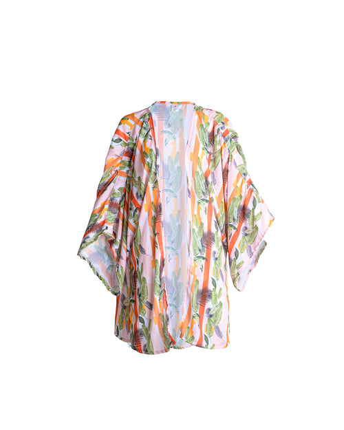 Antigua Kimono Short Palms Stripes
