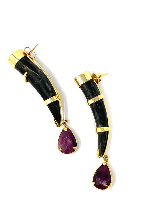 DosA2 Le Noir Earrings Purple