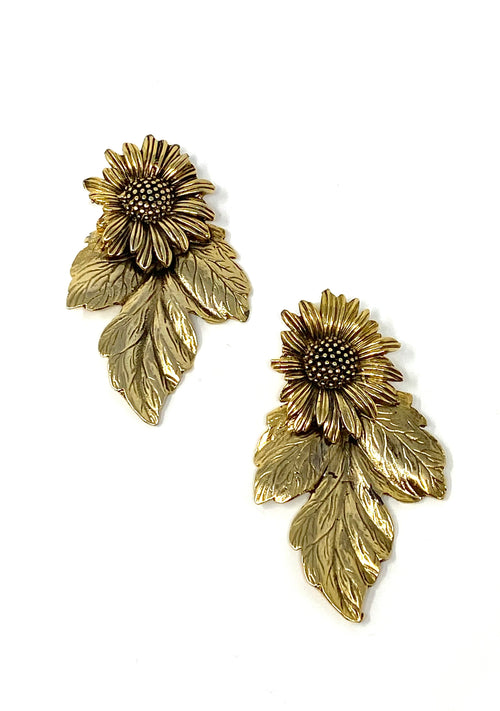 VG Earrings Girasol Hoja Grande