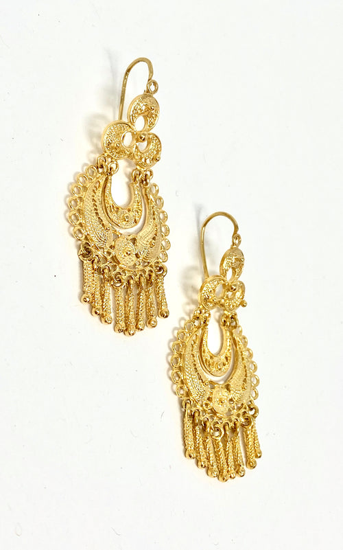 Antigua Earrings Filigram Gold