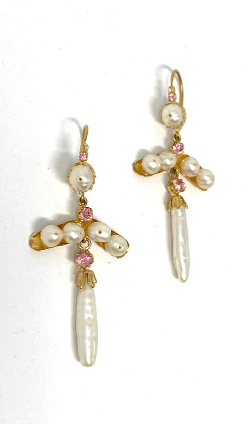 Antigua Earrings Cruz Perlas
