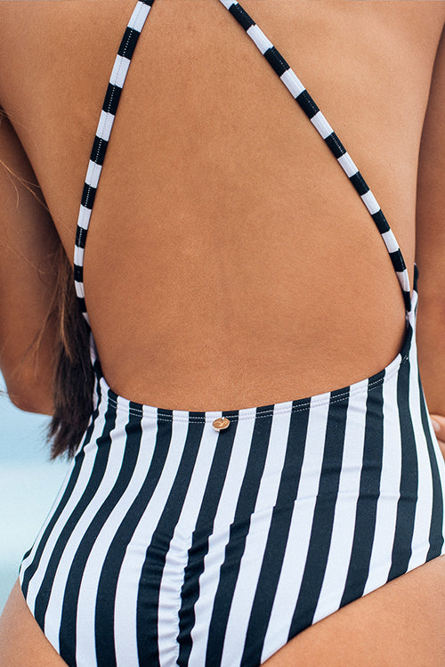 Isabella One Piece Swimsuit Stripes