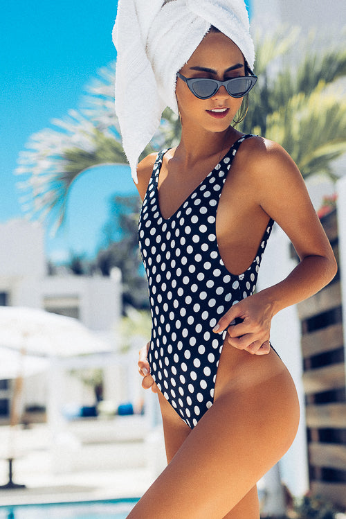 Ava One Piece Swimsuit Dots