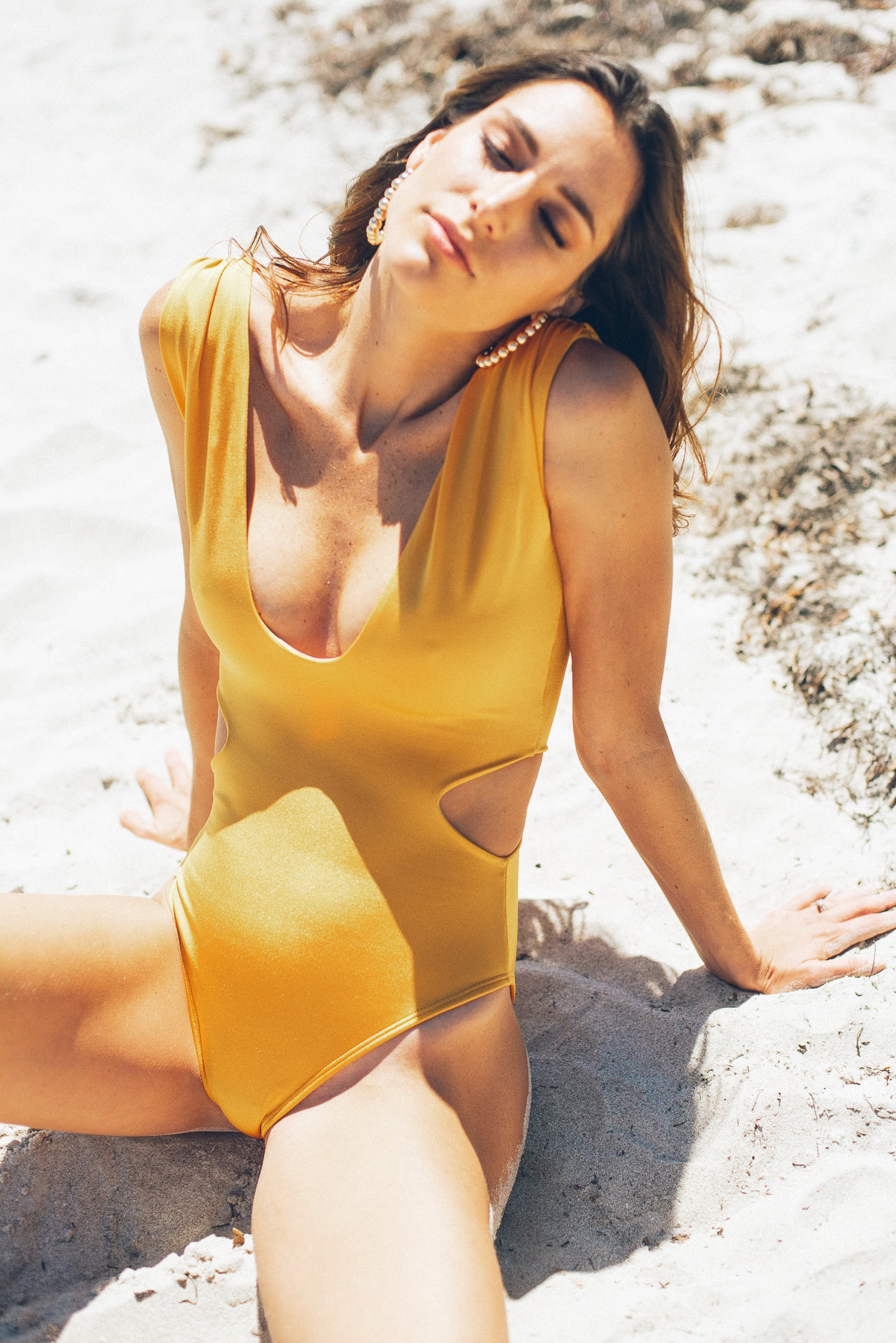 Maria One Piece Swimsuit Burned Yellow