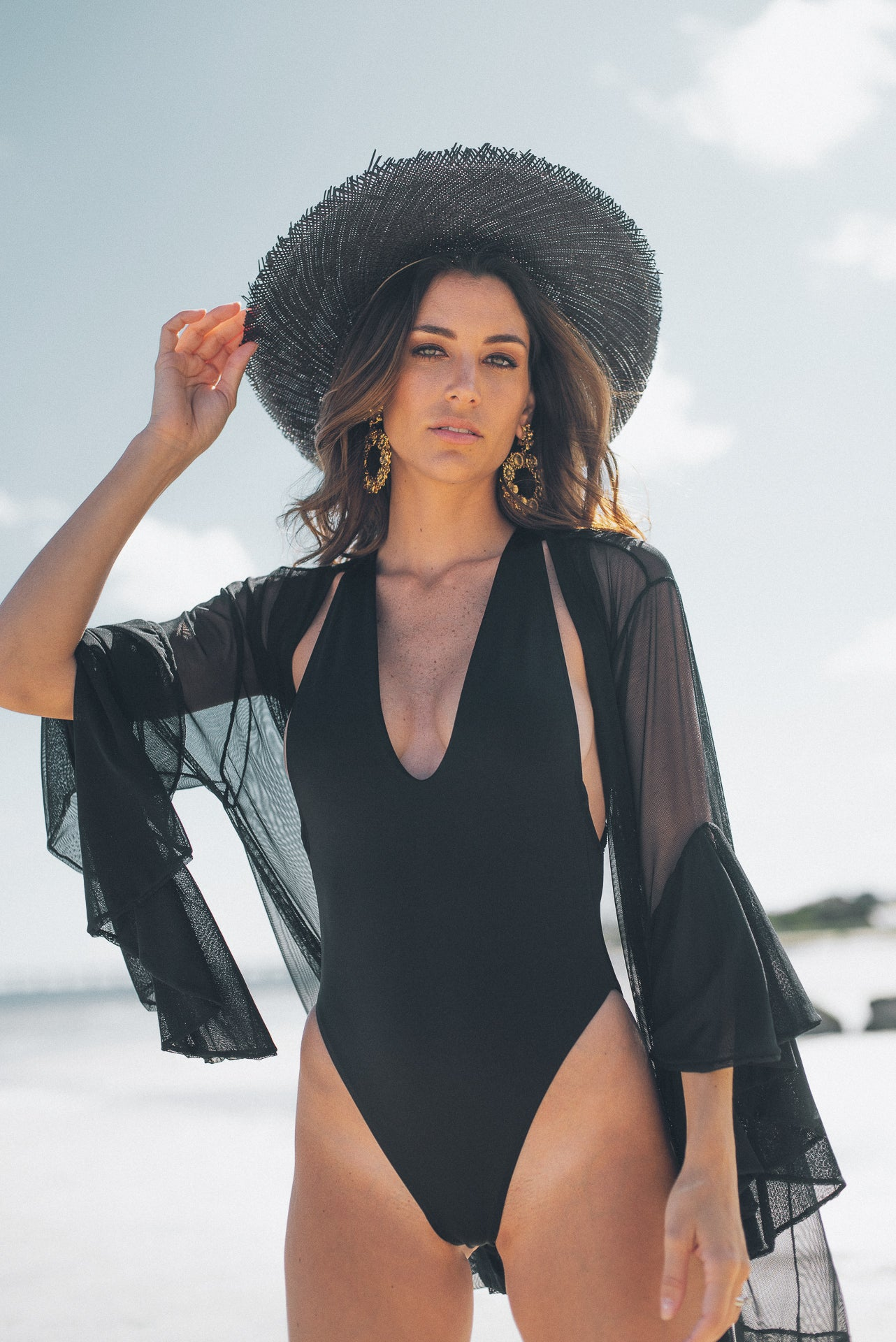 Isabella One Piece Swimsuit Black