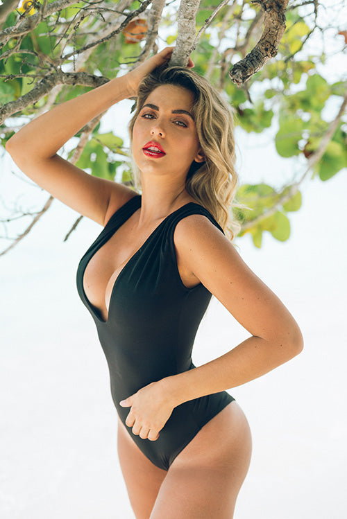 Maria Comp One Piece Swimsuit Black