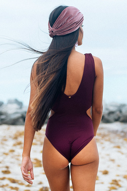 Maria One Piece Swimsuit Burgundy