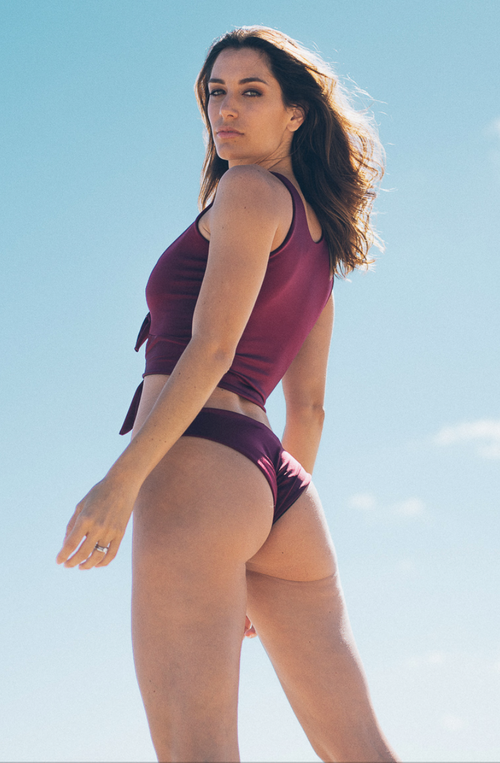 Betty Bikini Bottom Burgundy