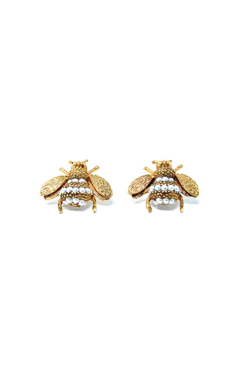 VG Bee Pearl Earrings