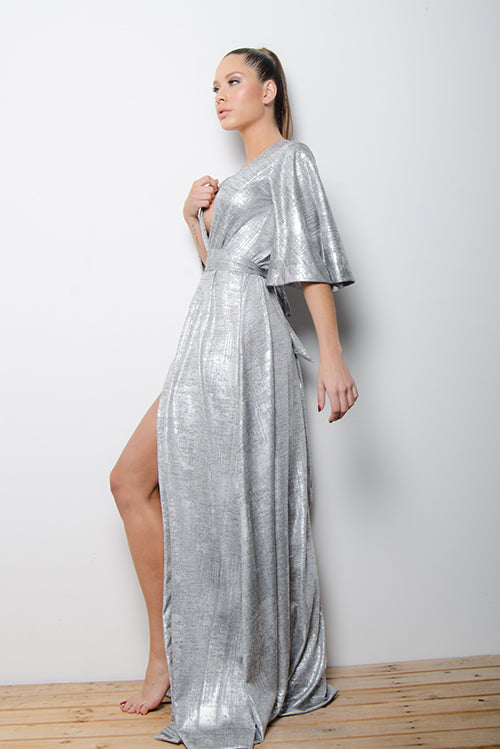 Antigua Dress Cruzado Silver