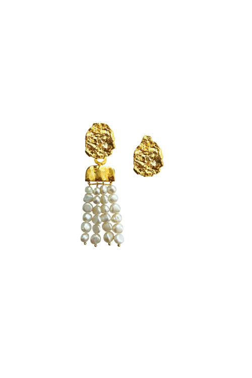 Jetlag Earrings Pearls Waterfall